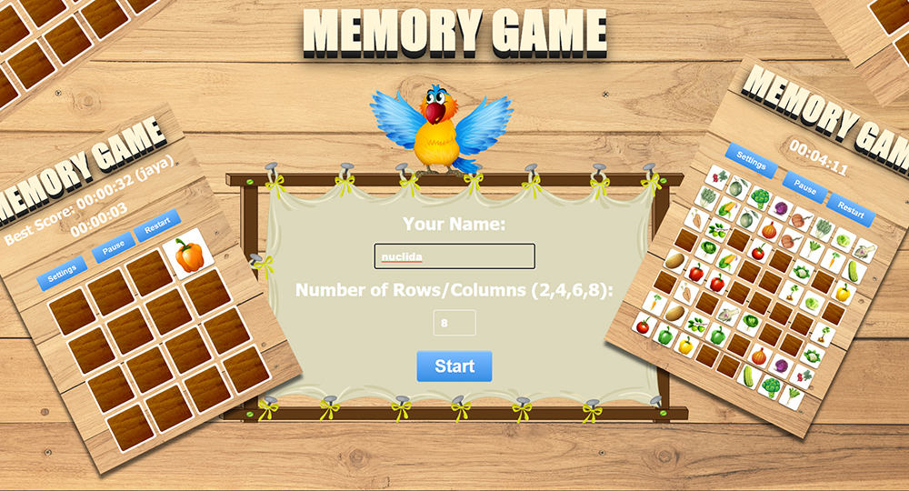 Memory Vegetables Game