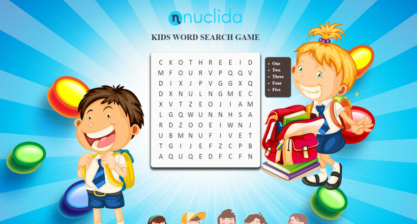 KIDS WORD SEARCH GAME