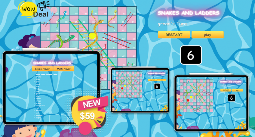 Snakes And Ladder Game Multi Player