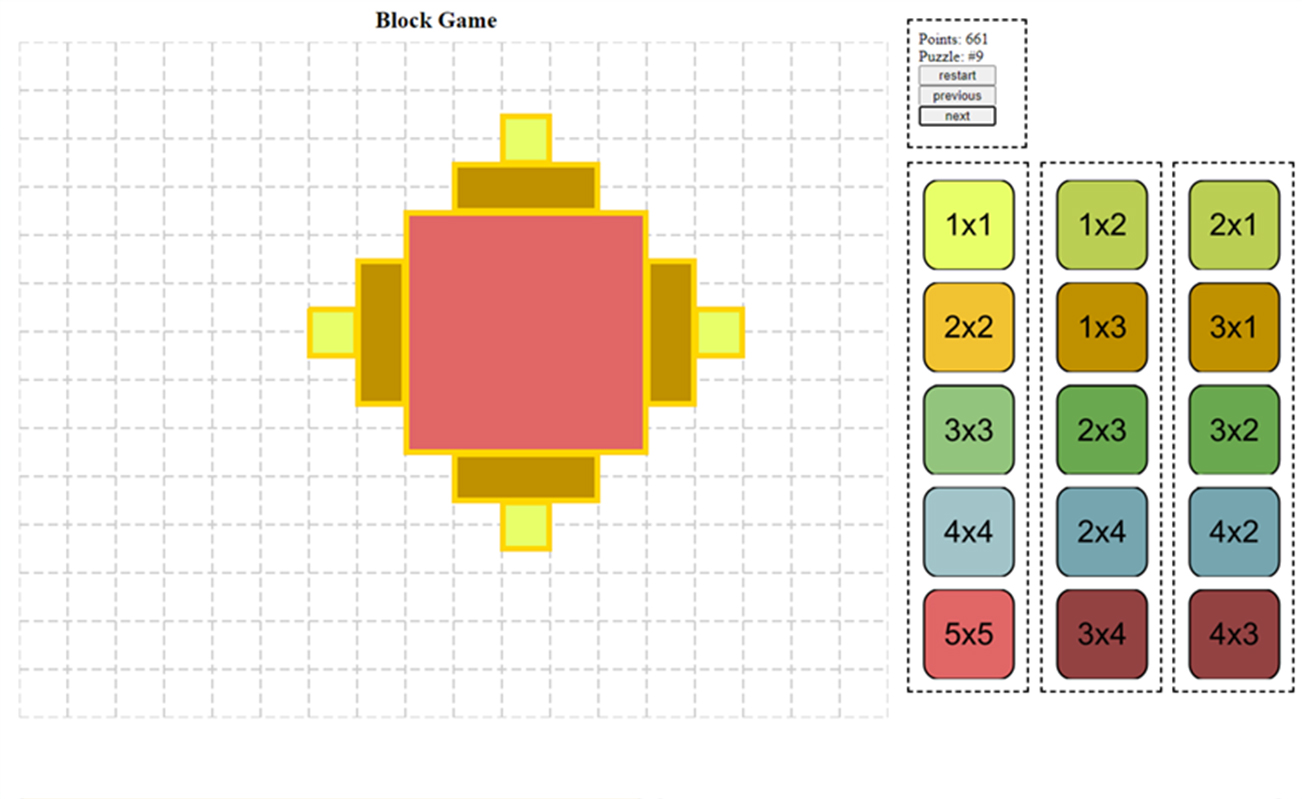 HTML5 block game for kids