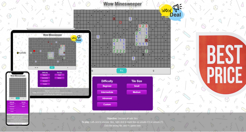 WOW MINESWEEPER HTML5 GAME